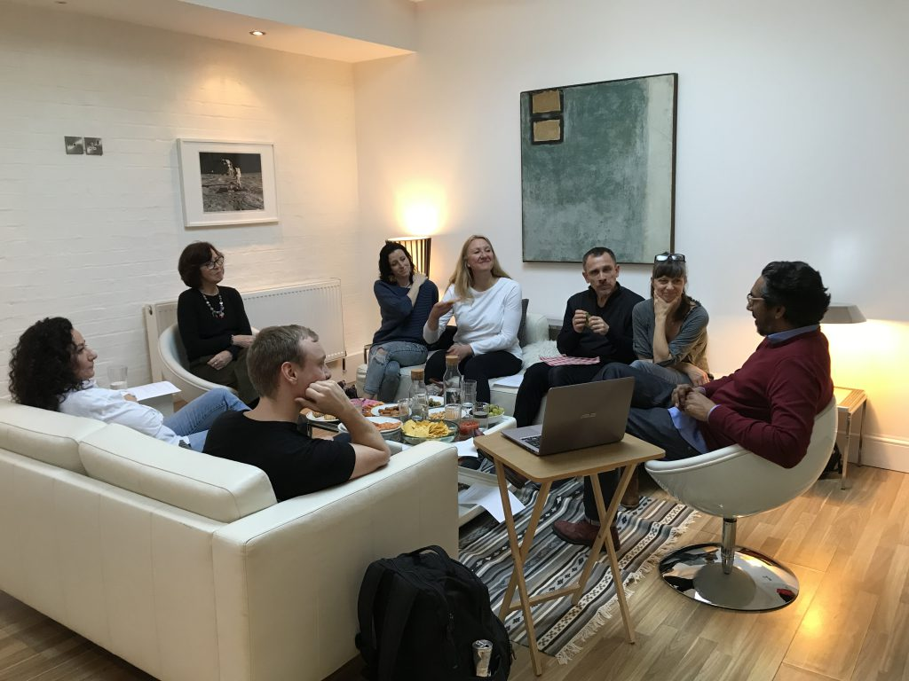 Chula Goonewardene gives a presentation at HQ Therapy's Addiction afternoon – 26.02.19